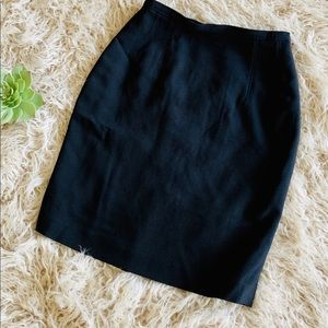 Escada Elements | Black Wool Blend Pencil Skirt S